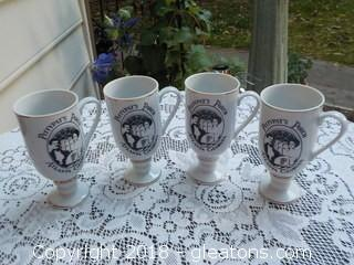 PittyPat's Porch Atlanta Set of 4 Glasses Footed Mugs