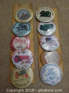 Tractor Farm Show Buttons