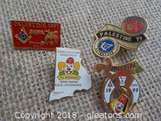 Shriners Masons Pins