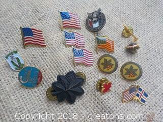 American Flags Military Boy Scouts Canada Pins Lot