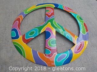 Metal Peace Sign