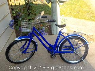 American Girl Doll Blue Cruiser Bicycle