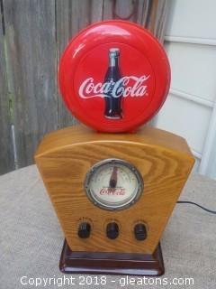 Coca-Cola Radio with Light Works Fine Looks Nice