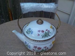 New Enamel Tea Kettle