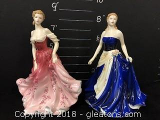 Pair of Royal Doulton Pretty Ladies