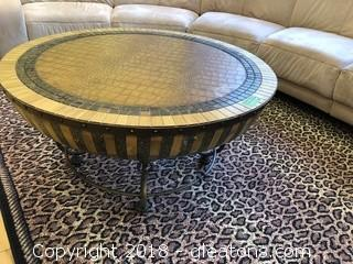 Coffee Table Round Decorative