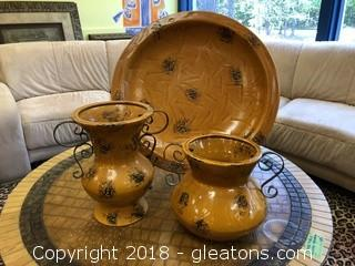 Set of Three Decorative Pieces