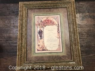 Antique French Menu Replica Print (A)