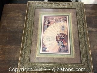 Antique French Menu Replica Print (B)