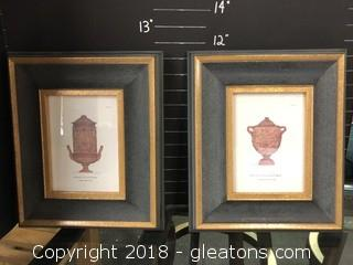 Framed Print Published Plates Pair