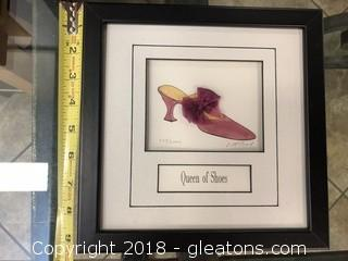 """Embossed Print """"Queen of Shoes"""" by L. McCool Signed + Numbered"""