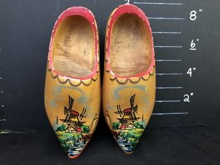 Dutch Shoes Hand Painted Pair