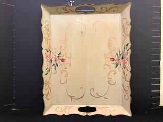 Hammond Tolle Hand Painted Tray 16""
