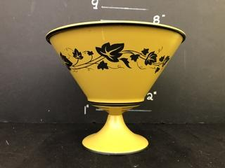 Vintage Tin Footed Bowl