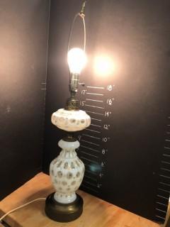 Vintage Bohemian Glass Lamp