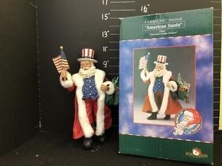 American Santa Figurine