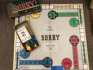 Vintage Sorry Board Game