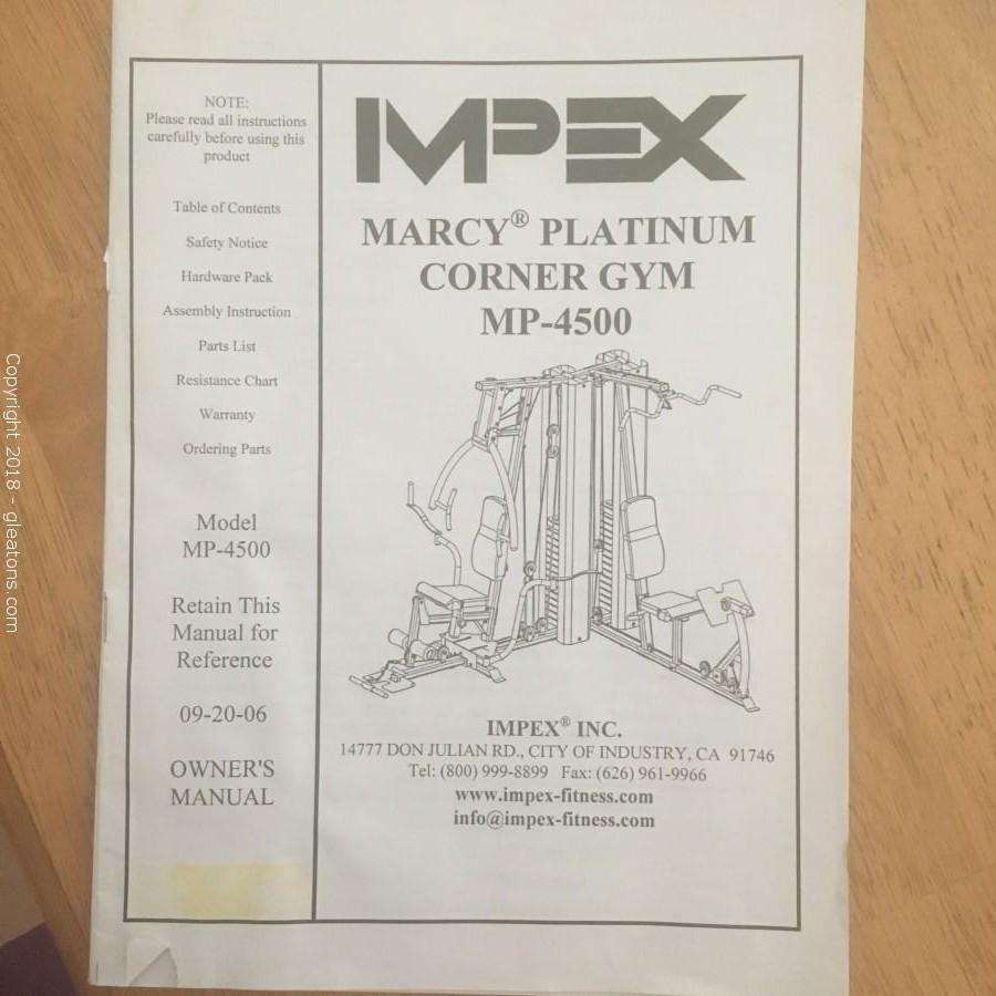 ... Impex Corner Gym, Marcy Platinum MP-4500