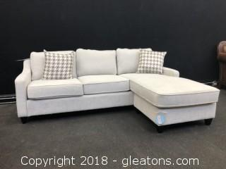 Upscale Sofa with Chaise Lounge & Storage (New with Warranty)