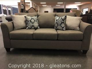 Upscale Modern Gray Sofa (New with Warranty)