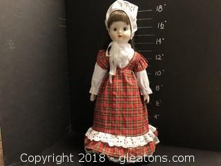 """18"""" Doll Christmas Plaid Dress"""