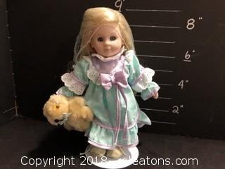 Doll W/Teddy Bear