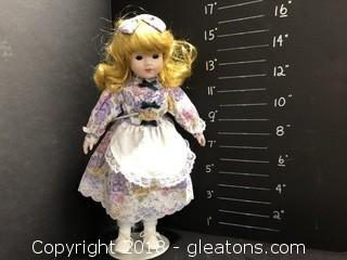 "15"" Floral Dress Doll"