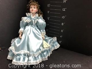 "16"" Antebellum Blue Dress"
