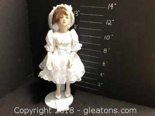 """14"""" Bible White Dress Doll"""