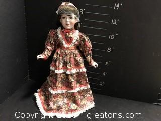 """15"""" Porcelain Doll, Brunett"""