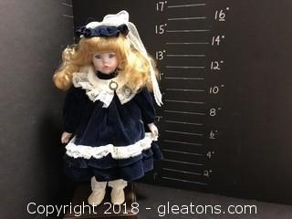 """15"""" Doll Blue Velvet"""