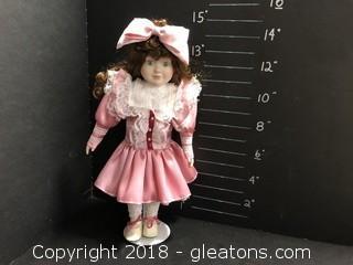 "14"" Doll Pink Dress"