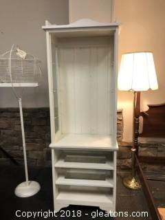 Tall White Solid Wood Cabinet