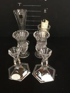Crystal Cases Candle Holders
