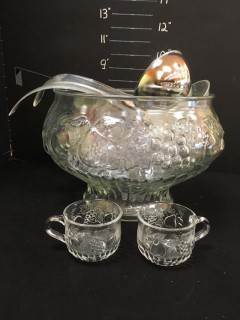Punch Bowl+Cups