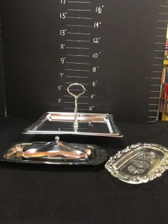 Serving Tray Butter Dishes