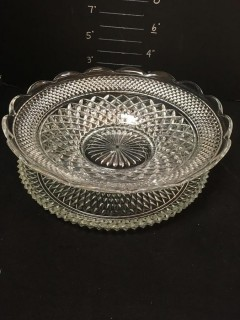 Crystal Bowl And Platter