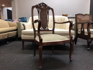 In Laid Wood And Mother Of Pearl Armchair