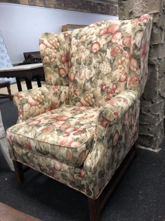 Traditional High Back Armchair