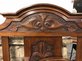 Antique Double Sized Bed - Hand Carved