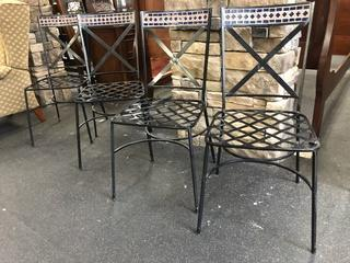 Outdoor Chairs Set Of Four Mosiac Detail