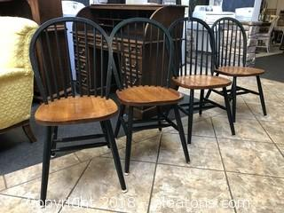 Vintage Bow Back Dining Chairs (4)