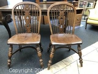 Ercol-Style.Elm Dining Chairs