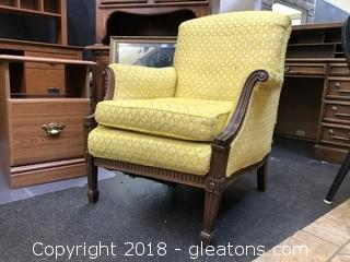 Vintage Yellow Arm Chair