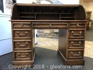 """Sligh Furniture Roll Top Desk, 46"""" Oak"""