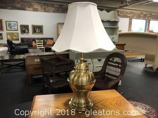 "Brass Lamp 32"" Works"