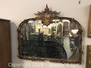 Antique Wall Mirror Gold Wood Molding