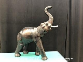 Brown Wooden Elephant Decor