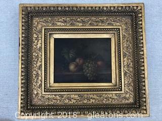 Original Still Life by Delos Ornate Wooden Frame