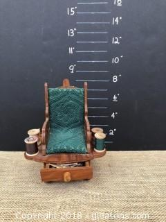 Vintage Whimsical Sewing Caddy (Rocking Chair)